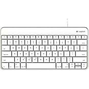 logitech wired keyboard for ipad with lightning connector white computers. Black Bedroom Furniture Sets. Home Design Ideas
