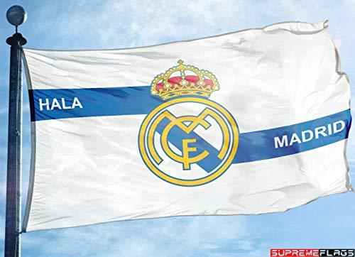 (Real Madrid Flag Banner 3x5 ft White Spain Futbol Soccer Bandera Hala Madrid)