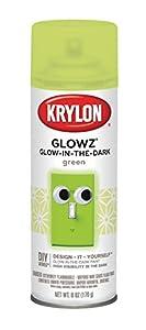 Krylon K03150 Glowz Spray Paint, Glow-In-The-Dark Green, 6