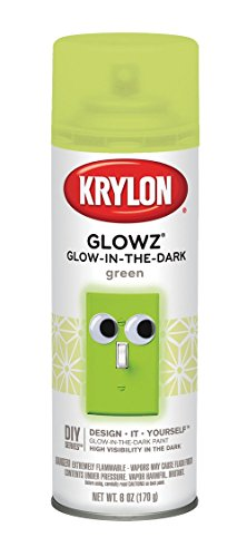 Krylon K03150 Glowz Glow-in-the-Dark Paint, Green, 6 ounce