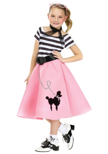 Fun World Little Girl's Med/soda Shop Sweetie Chld Childrens Costume, Multi, ()