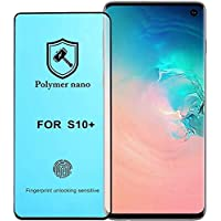 For Samsung Galaxy S10 Plus Anti-Shock 2.5D NANO Curved Polymer Screen Protector Matte Unbreakable Shock and Fingerprint