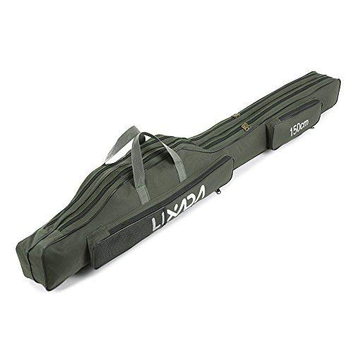 Lixada Fishing Rod Case, Portable Folding Fishing Rod Case Fishing Pole Reel Storage Bag Fishing Gears Organizer 100cm/130cm/150cm