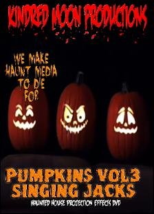 Scary Singing Pumpkins Halloween Projection Effects Vol 3 DVD -