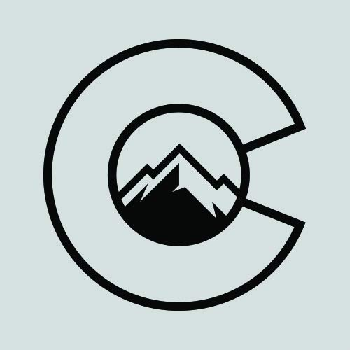 RDW Colorado Flag C with Mountains Sticker - Decal - Die Cut - CO Denver Boulder Fort Collins - Black 1.50