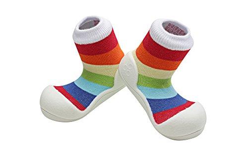 4024c42075e72 Attipas Big Toe Box Toddler Shoe *RAINBOW* White Small