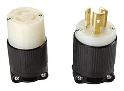OCSParts L515 NEMA L515 Plug and Connector Set Rated for 15A – L5-15r Receptacle Wiring