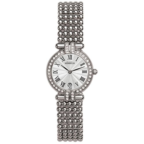 MICHEL HERBELIN WOMEN'S STEEL BRACELET & CASE QUARTZ ANALOG WATCH 16873/44XB08
