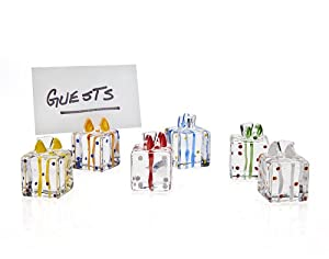 Godinger Silver Art Assorted Gift Box Present Place Card Holders Set of 6
