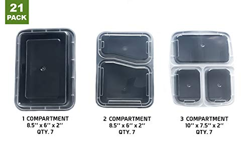 Meal Prep Container Combo (21 Pack)