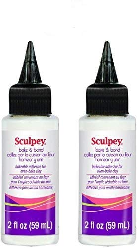 Sculpey Bake & Bond Bakeable Adhesive Clay for Oven-Bake Clay - Non-Toxic, Fun Projects, Great for All Clay Artists - 2-Ounces, 2-Pack