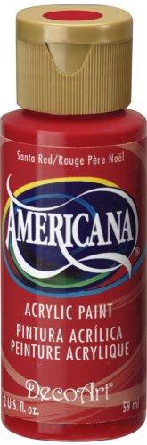 Acrylic Paint Santa (DecoArt Americana Acrylic Paint, 2-Ounce, Santa Red)