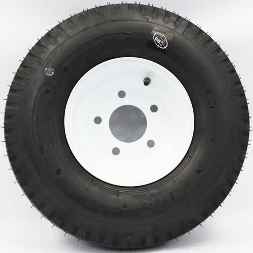 SWW 810 LoadStar 5-hole 8'' x 3.75'' White Trailer Wheel & Tire 5.70-8 6ply by SWW 810