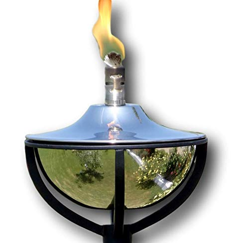 8.5 x 8.5 x 148cm Garden Oil Torch Aged Copper Path Burner Patio Lamp Lighting Outdoor Oil Torches