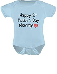 TeeStars - Happy First Mothers Day Mommy Body Suit Gift Idea Baby Onesie