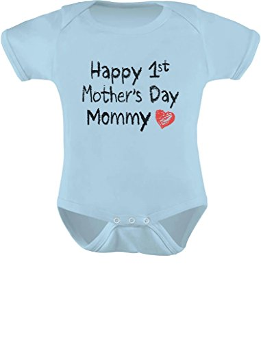 Happy 1st Mother's Day Infant Bodysuit - Choice of Colors