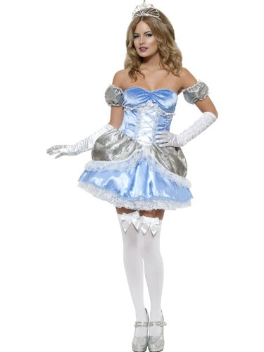 [Smiffy's Halloween Adult Fairytale Princess Cinderella Costume Large Blue] (Storybook Fairytale Costumes)