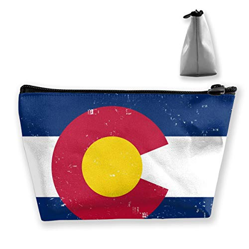 Premium Makeup Case Clutch Bag, Colorado State Flag1 Travel Makeup Train Case Holder Large Capacity Carry On Bag, Luggage Pouch, Makeup Pouch] for Women Girls Ladies