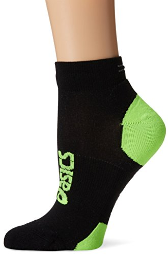 ASICS Lite-Show Nimbus Low Socks, Black/Green Gecko, Small