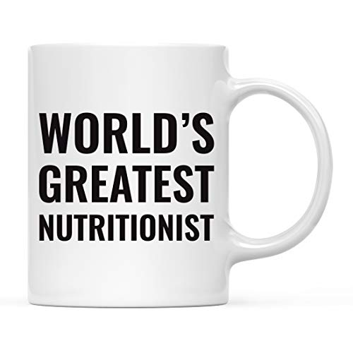 Andaz Press 11oz. Coffee Mug Gift for Men or Women, World's Greatest Nutritionist Mug, 1-Pack, Drinking Cup Birthday Christmas Promotion Graduation Gift Ideas for Him Her ()