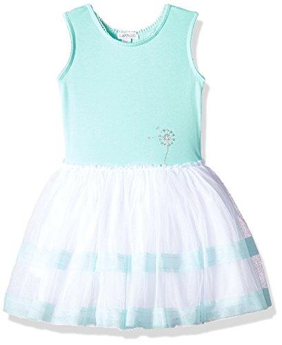 - Flapdoodles Girls' Little Stripe Tutu Dress with Cotton Bodice, Aqua, 6