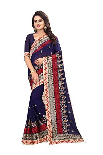 Da Facioun Indian Sarees Women Designer Partywear Traditional Ethnic Sari. Da Facioun Femmes Indiennes De Saris Concepteur Partywear Sari Ethnique Traditionnelle. Neavy Blue 8 Neavy Bleu 8