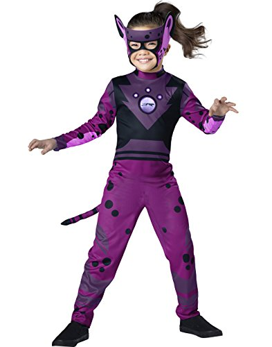 Wild Kratts Cheetah Costume, Purple/Black, Small (Wild Kratts Creature Power Suit Costumes)