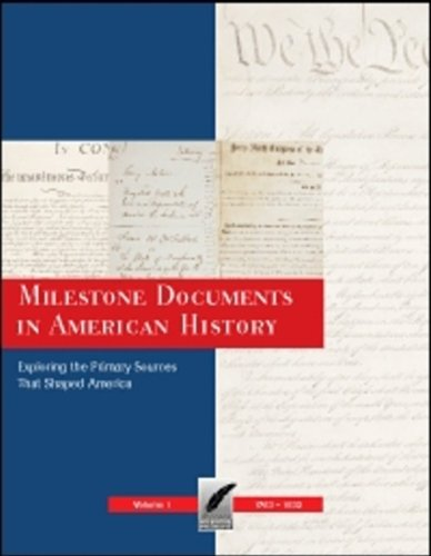 Books : Milestone Documents in American History: Print Purchase Includes Free Online Access