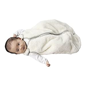 baby deedee Sleep Nest Teddy Baby Sleeping Bag, Ivory, Large (18-36 Months)