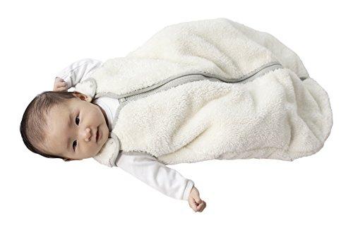 baby deedee Sleep Nest Teddy Baby Sleeping Bag, Ivory, Large (18-36 Months) -