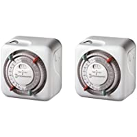 Intermatic TN111C61 2-Pack Heavy Duty Lamp and Appliance Timers by Intermatic