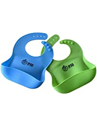 Set Of Two Soft Waterproof Silicone Wide Bucket Feeding...