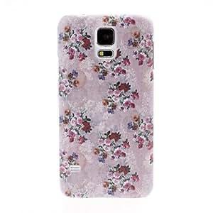 ZXM-Pequeños Florals Patrón de plástico duro caso para Samsung Galaxy i9600 S5