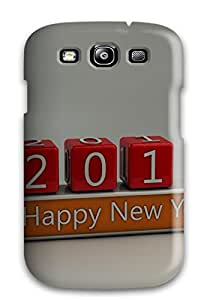 JonathanLFarr Snap On Hard Case Cover Funny Happy New Year Protector For Galaxy S3