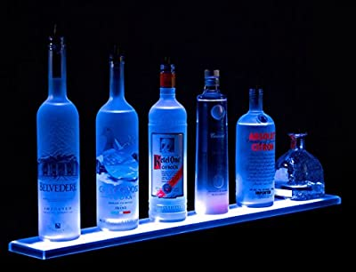 """2' 10"""" LED Lighted BAR Shelves, Wall Mount brackets and wireless remote control included - 34 Inches Long Display"""