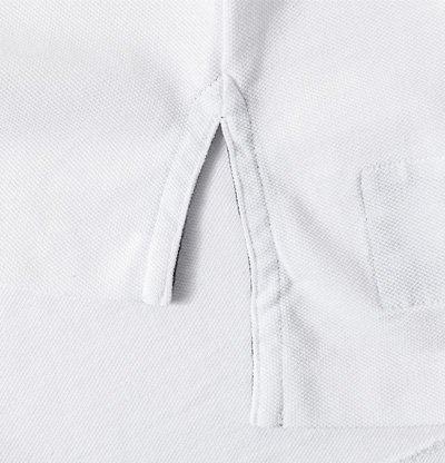 Polo Ralph Lauren Herren Polo-Shirt Baumwolle T-Shirt Unifarben mit Motiv, Größe: M, Farbe: Weiß
