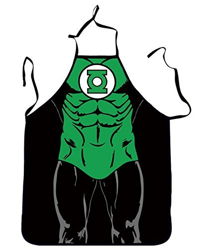 Green Lantern Costumes Pattern (FASHION ALICE Green Lantern Anime Cartoon Hero Character Series Modern Family Apron Couple Kitchen Aprons Funny Personality Sexy Originality Cooking Aprons Gift,Include A Bottle Opener)
