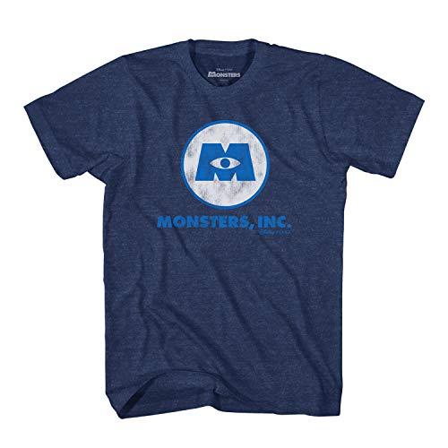 Disney Pixar Monster Inc Logo Symbol Adult T-Shirt (Navy Heather,X-Large)]()
