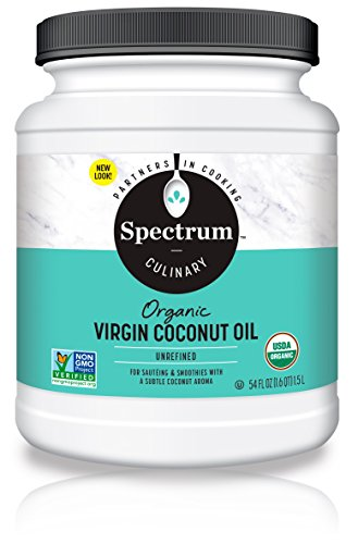 Spectrum Organic Coconut Oil for Cooking, Virgin, Unrefined, 54 fl. oz. (The Best Pineapple Upside Down Cake Recipe Ever)