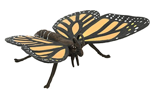 Safari Ltd Hidden Kingdom Insects - Monarch Butterfly - Beautiful and Realistic Hand Painted Toy Figurine Model - Quality Construction from Safe and BPA Free Materials - For Ages 3 and Up