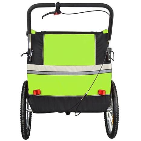 Remolque de bici para niños completamente amortiguado con kit de footing, color: LEMON 504S-02: Amazon.es: Deportes y aire libre