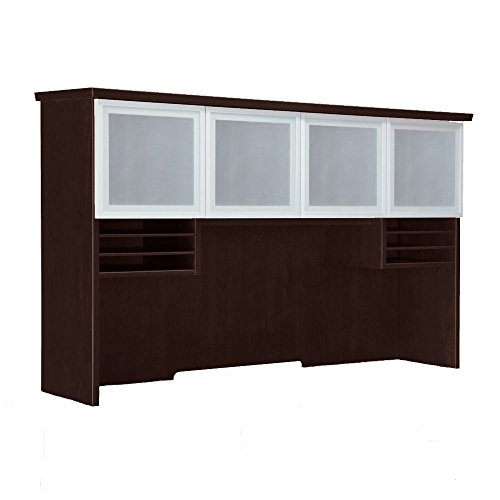 Pimlico Overhead Storage Hutch Dimensions: 72''W x 16''D x 42''H Weight: 215 lbs Mocha Finish/Silver Accents by DMI Furniture