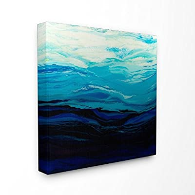 Stupell Industries Acrylic Resin Sea Ocean Waves Cresting Abstract Canvas Wall Art, 30 x 30, Multi-Color