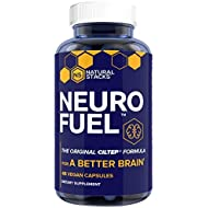 Natural Stacks Neurofuel 45 ct. - Improve Your Focus and Memory - Original CILTEP Formula - Nootropic Supplement for Brain - All Natural Artichoke Herbal Supplement w/Forksolin