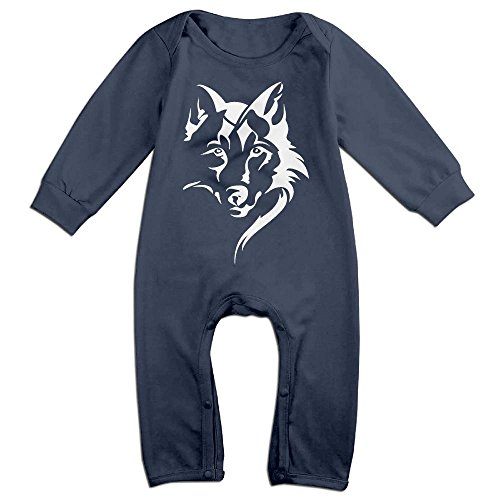- Baby Girls Organic Coverall Wolf Face Baby Clothes