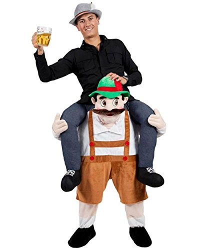 Bavarian Beer Ride On Oktoberfest Stuffed Stag Mascot Carry Piggy Back Fancy Costume (Ride A Unicorn Costume)
