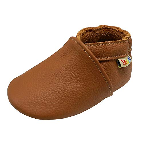 Yalion Baby Boys Girls Shoes Crawling Slipper Toddler Infant Soft Leather First Walking Moccasins (APPR.24-36 Mos/6.2