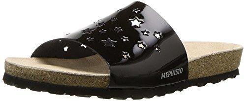 - Mephisto Women's Nora Star Sandal, Black Patent, 8 M US