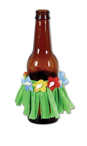 Beistle Party Decoration Drink Hula Skirts 3 1/2
