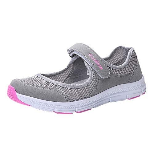 De Confortable Frestepvie Souple Plate Chaussures Chaussons Fille Ballerine Bracelet Boucle Femme Gris Sport xPYxwanqFR